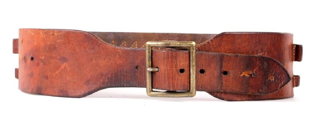 Antique George Lawrence Leather Ammo Belt - 8