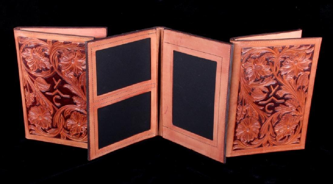R.O. Brooks Custom Tooled Leather Photo Binders(3)