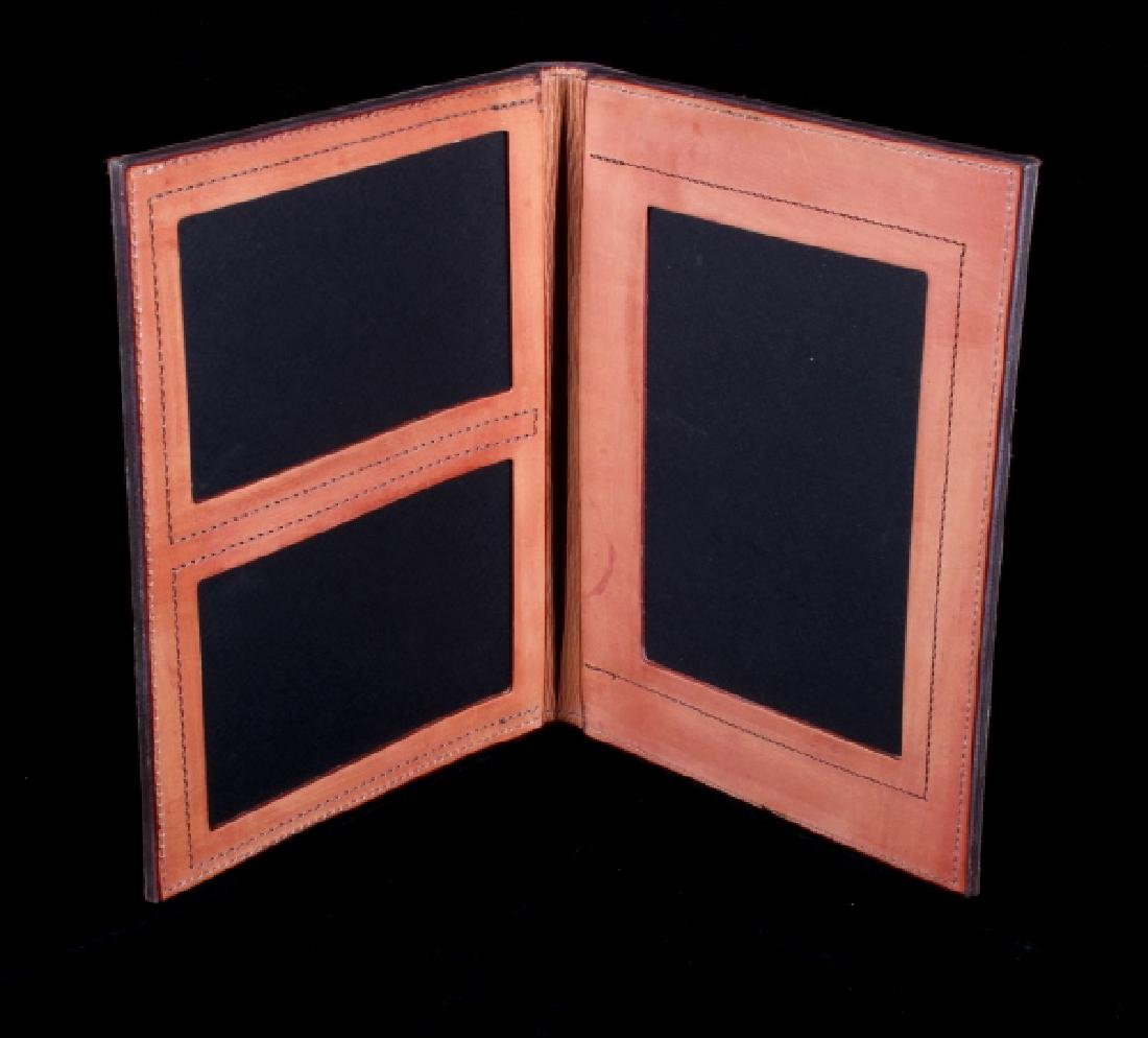 R.O. Brooks Custom Tooled Leather Photo Binders(3) - 2