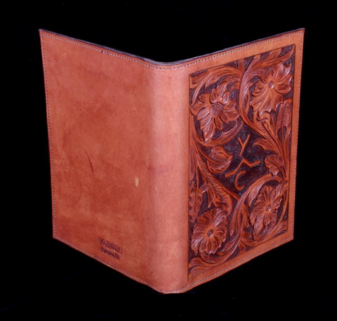 R.O. Brooks Custom Tooled Leather Photo Binders(3) - 3