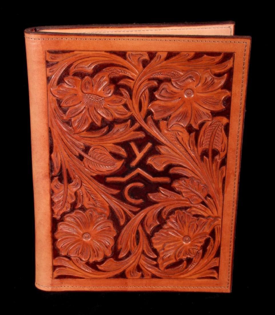 R.O. Brooks Custom Tooled Leather Photo Binders(3) - 4