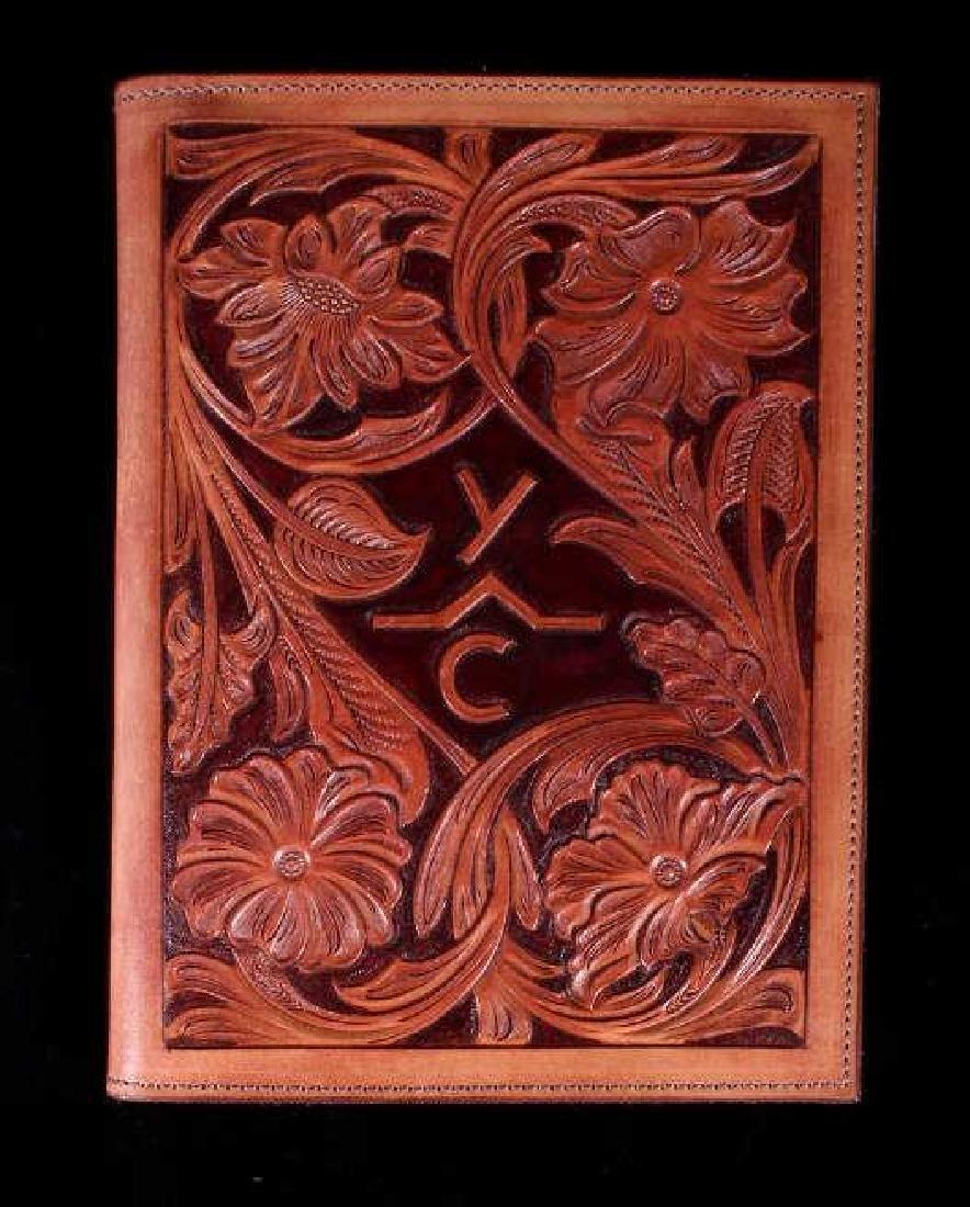 R.O. Brooks Custom Tooled Leather Photo Binders(3) - 7