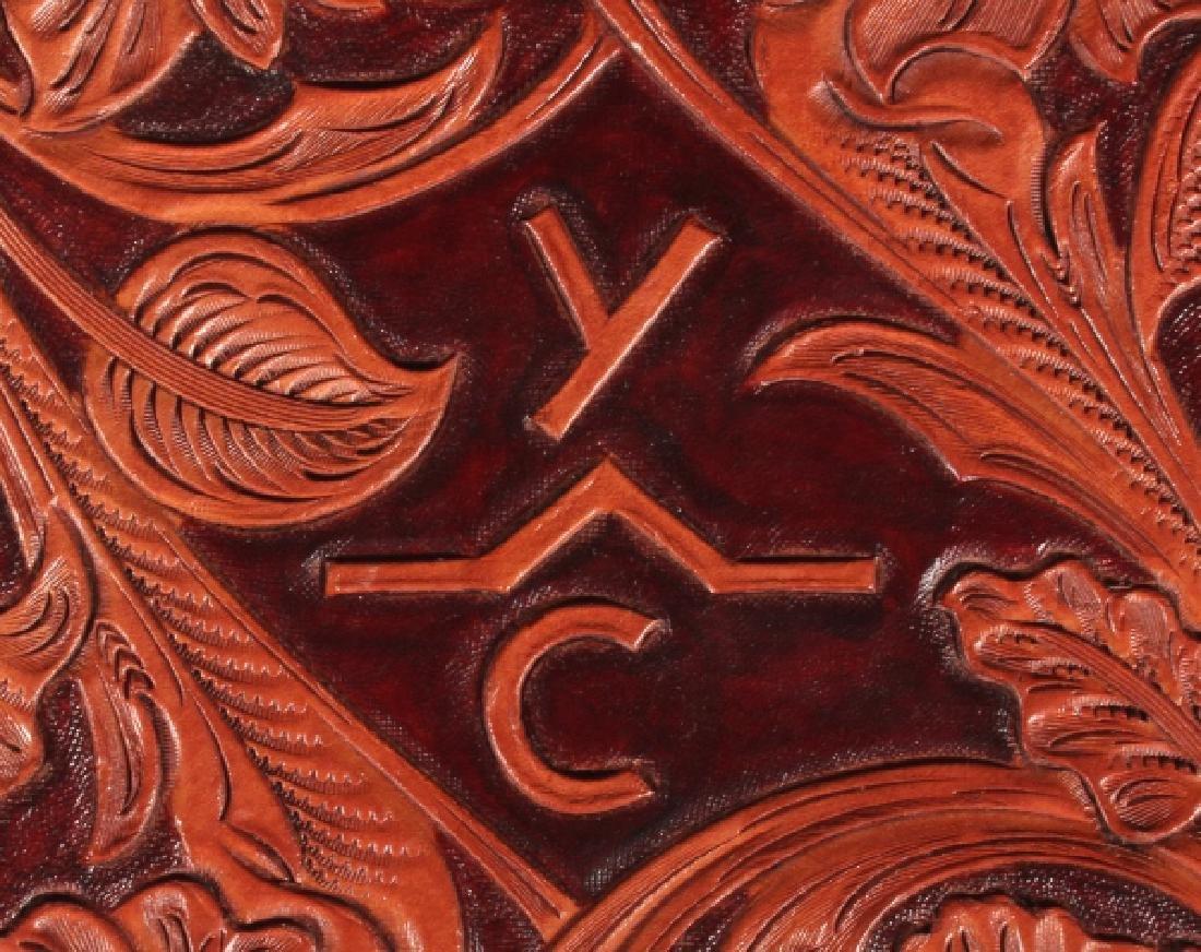 R.O. Brooks Custom Tooled Leather Photo Binders(3) - 8