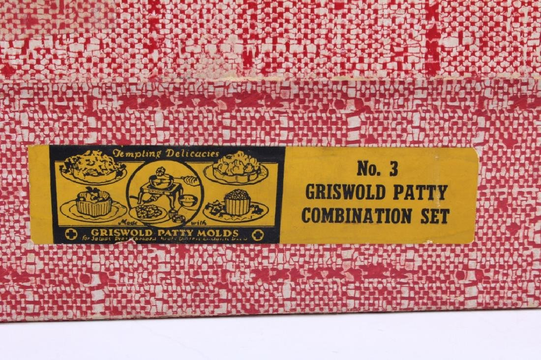 Griswold Cast Iron Patty Molds - 17