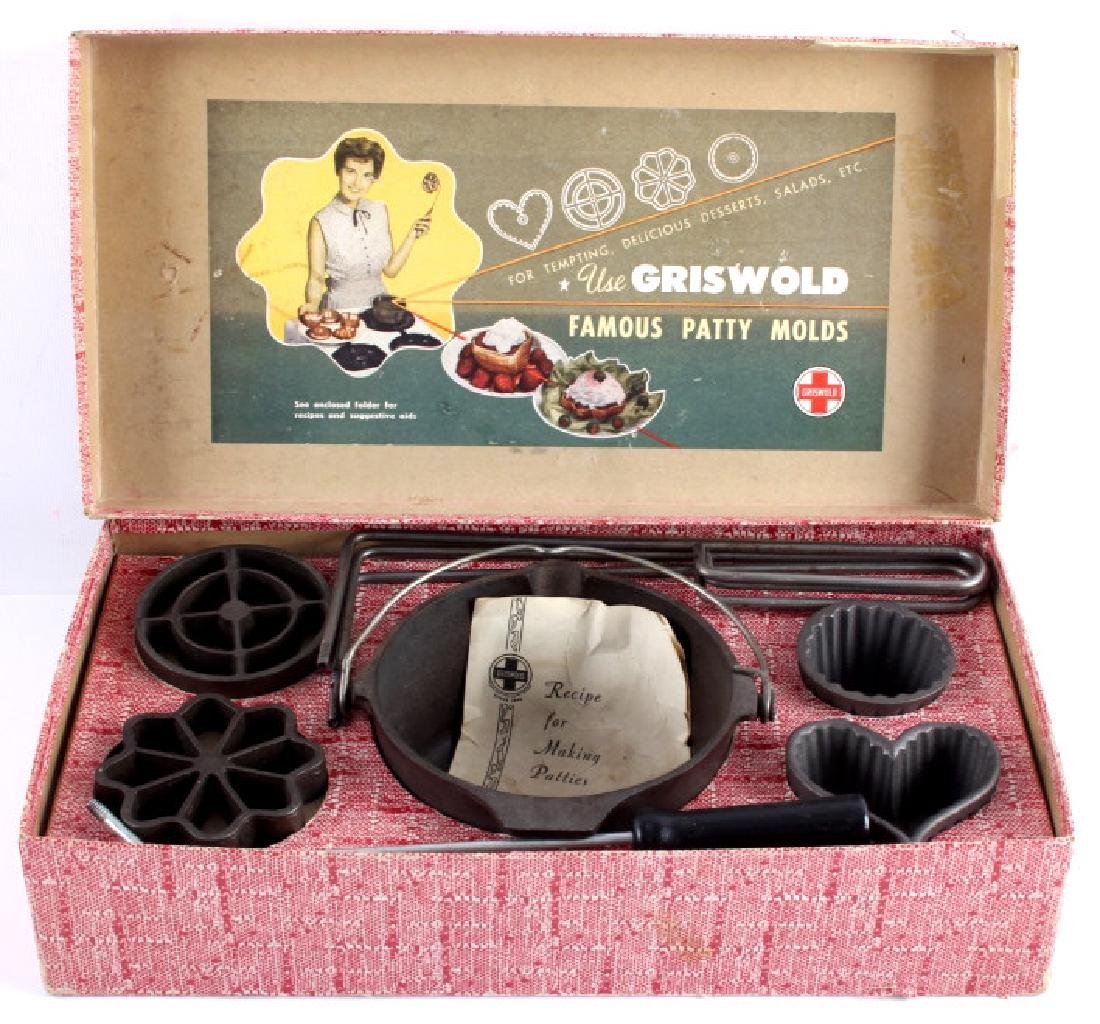Griswold Cast Iron Patty Molds - 2