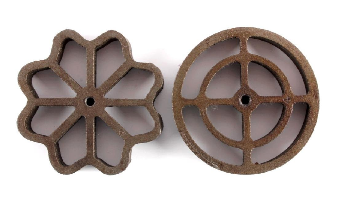 Griswold Cast Iron Patty Molds - 6