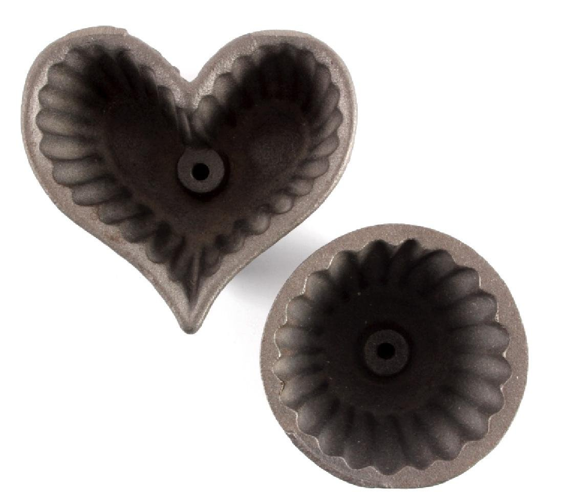 Griswold Cast Iron Patty Molds - 8