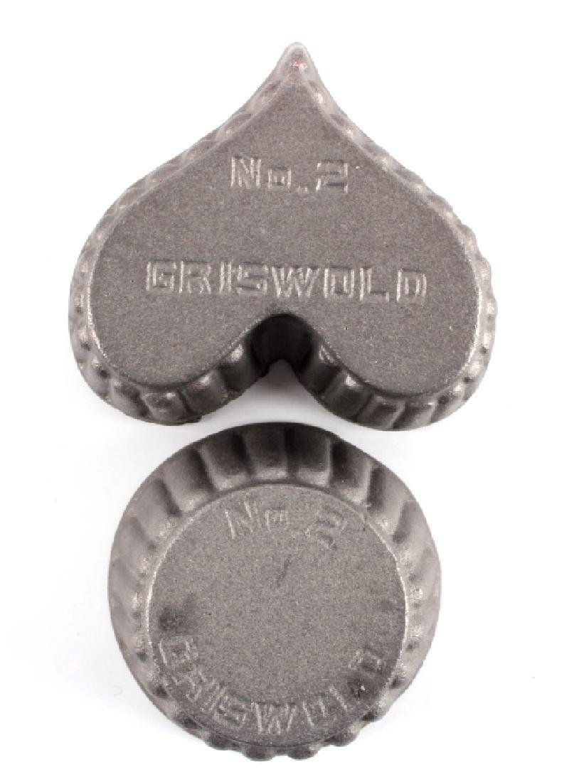 Griswold Cast Iron Patty Molds - 9