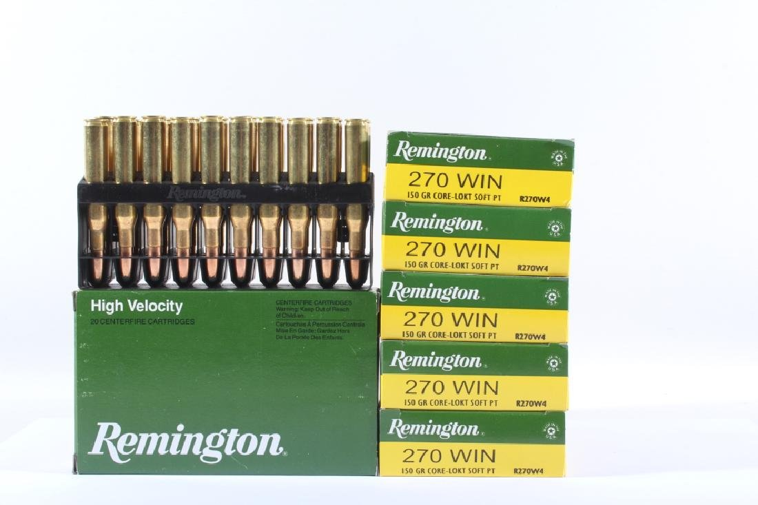120 Un-Fired Rounds of Remington 270 Win 150gr