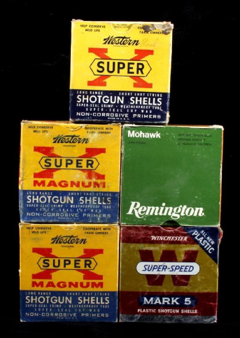 Antique 12ga Shotgun Shell Box Collection (5)