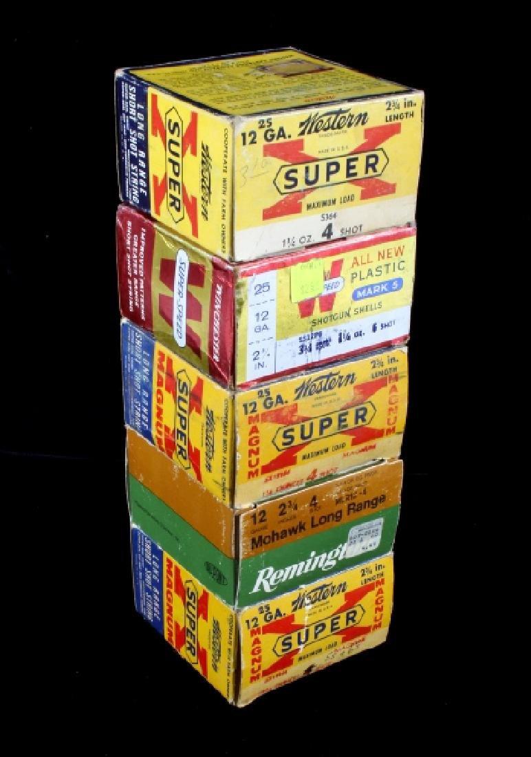 Antique 12ga Shotgun Shell Box Collection (5) - 3