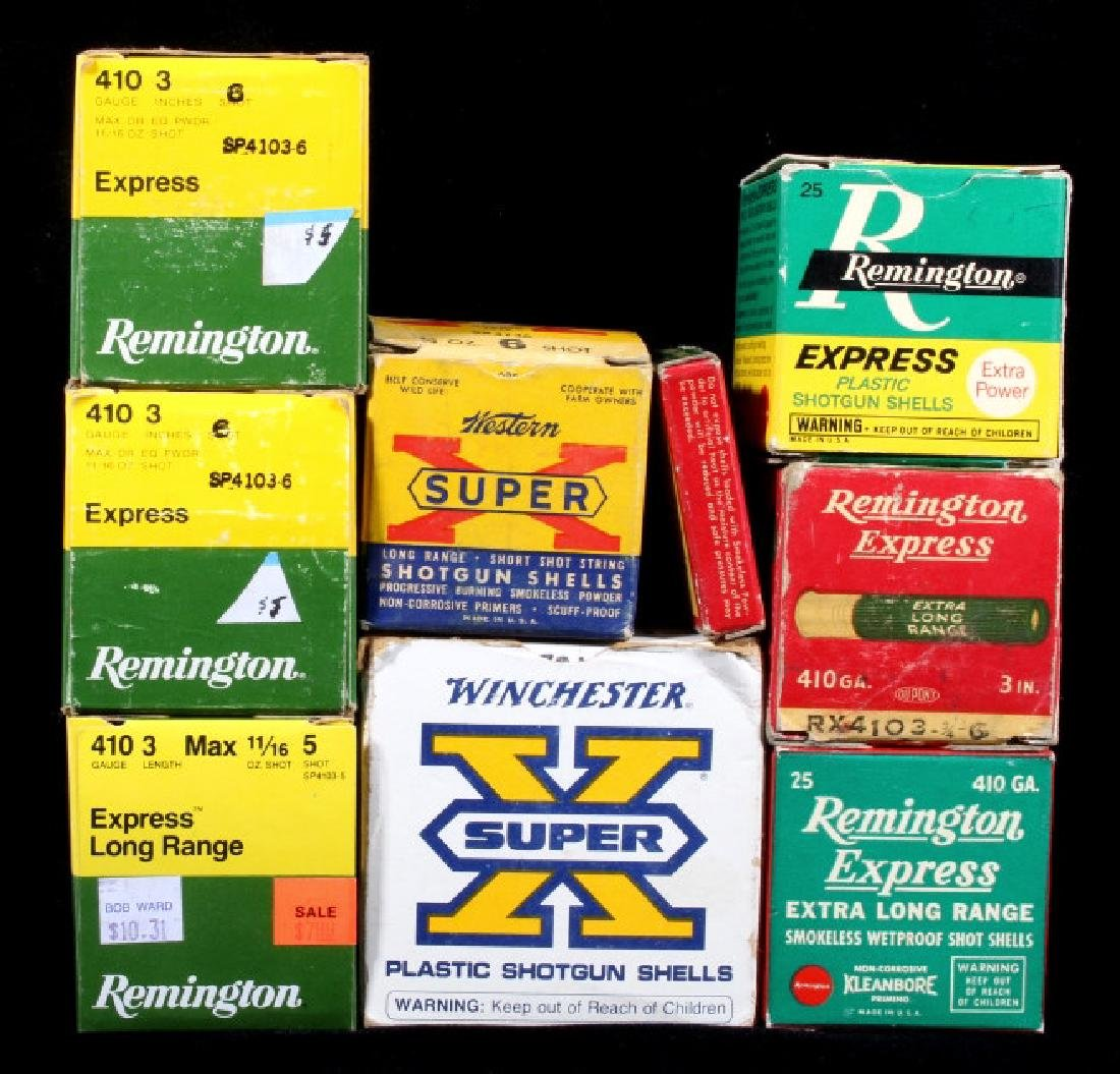 Antique .410 & 20ga Shotgun Shell Boxes (9)
