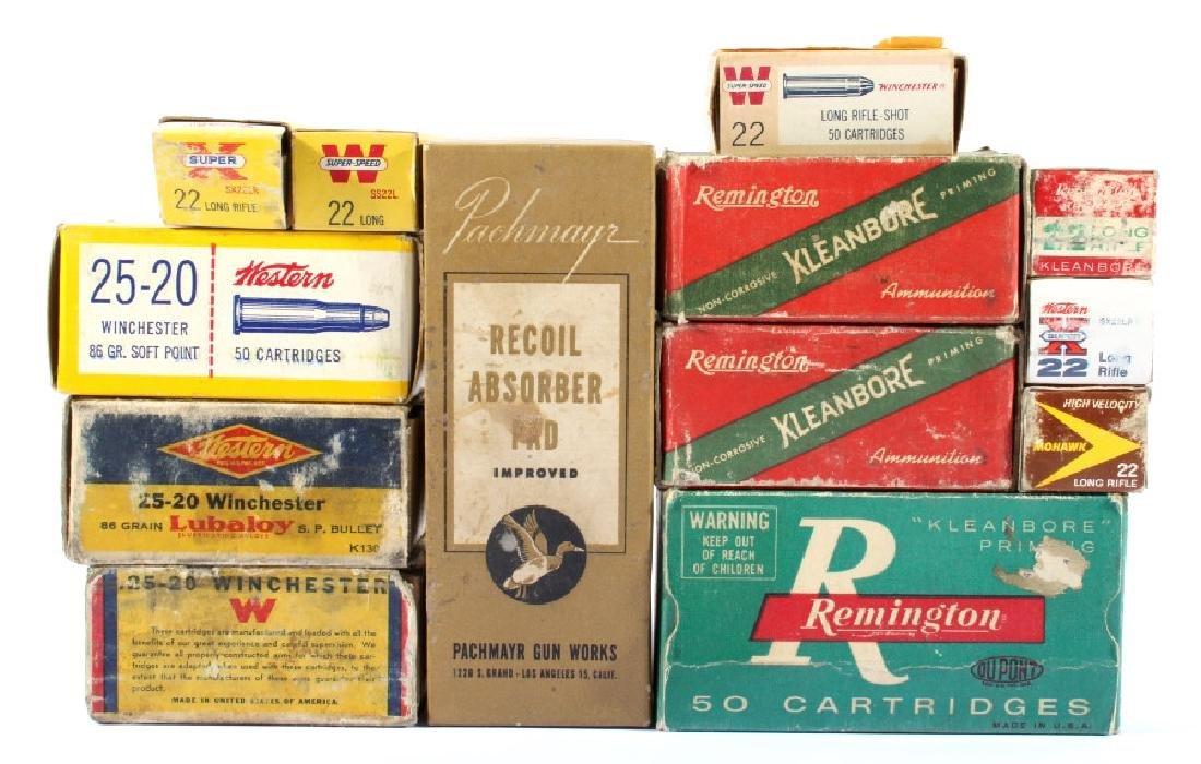 Antique .22 & .25-20 Ammunition & Boxes (13)