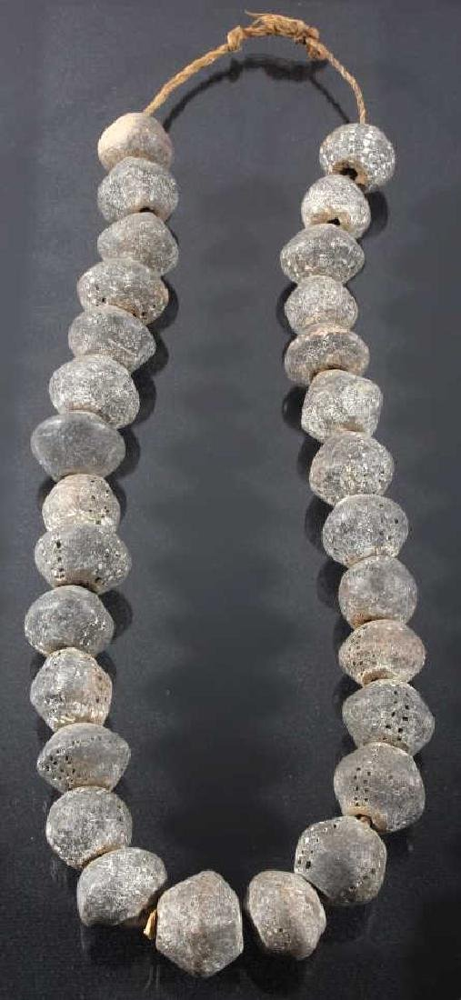 Large Lava Bead Necklace Circa mid-1800's