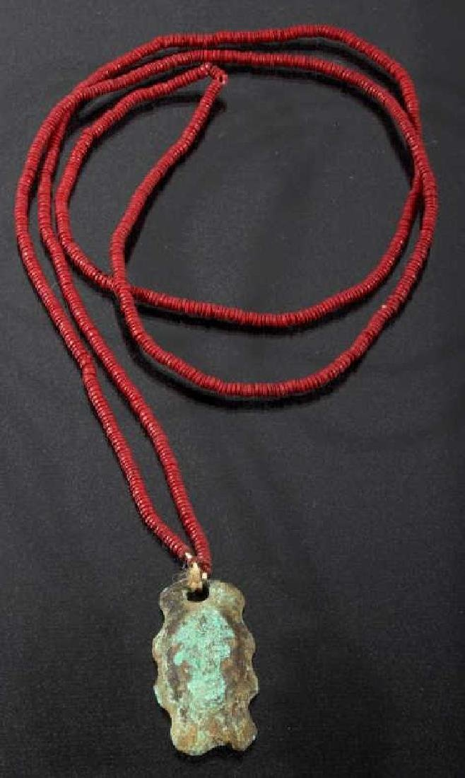 Mississippian Culture Copper Effigy Necklace