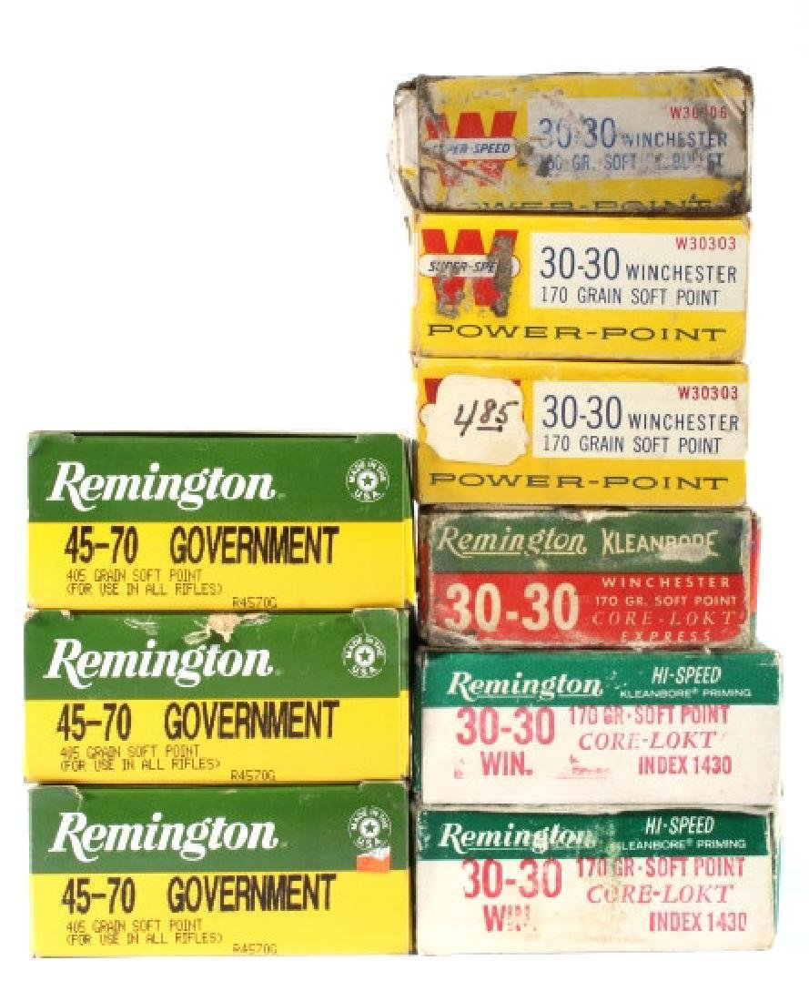 Collection of Antique Repeating Rifle Ammunition