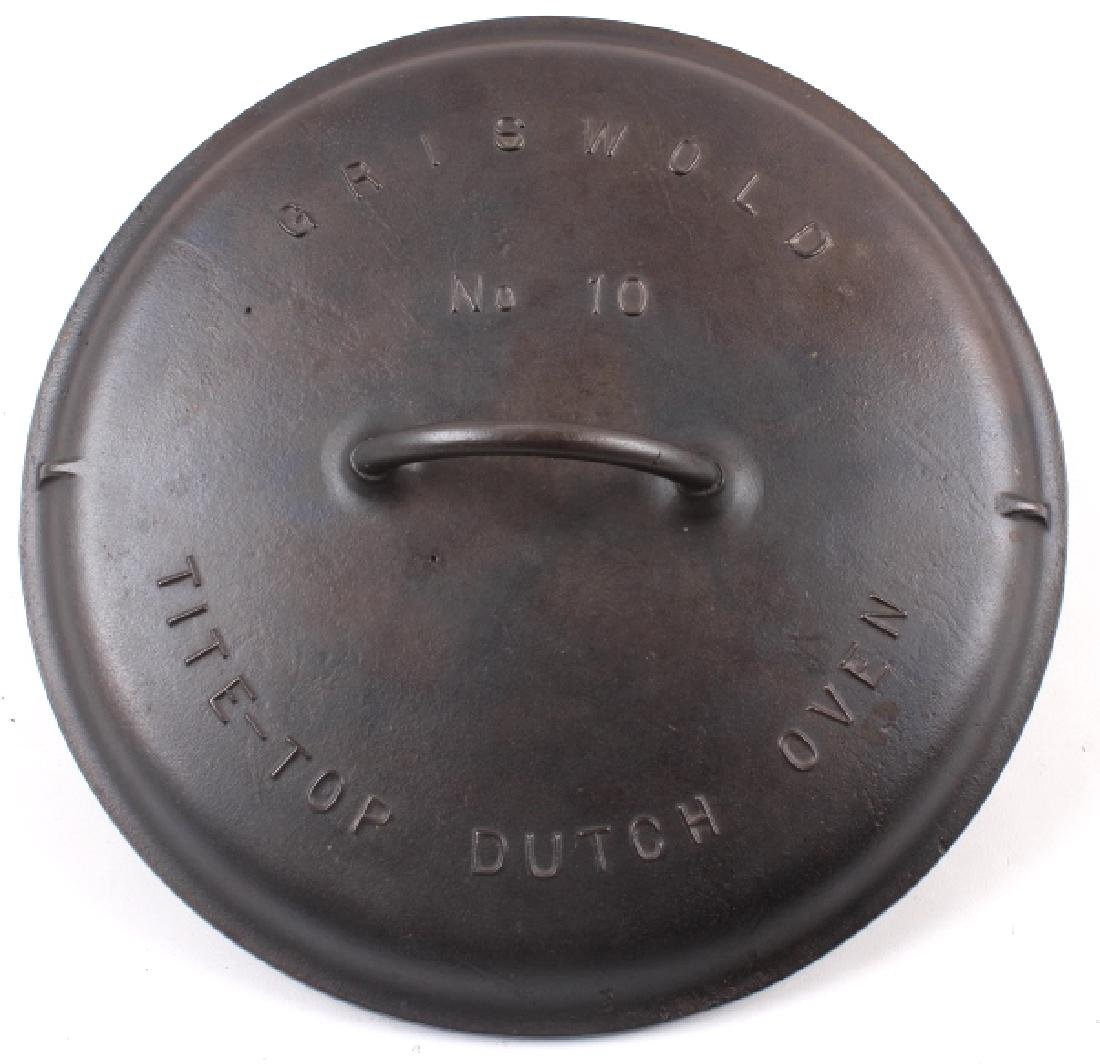 Griswold Number 10 Tite-Top Dutch Oven - 6