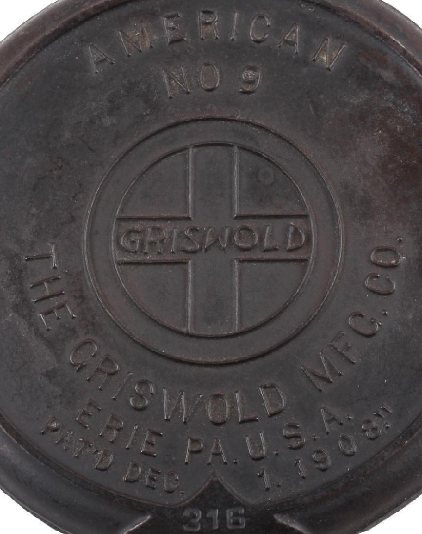 Pair of Griswold Number 9 Waffle Makers with base - 4