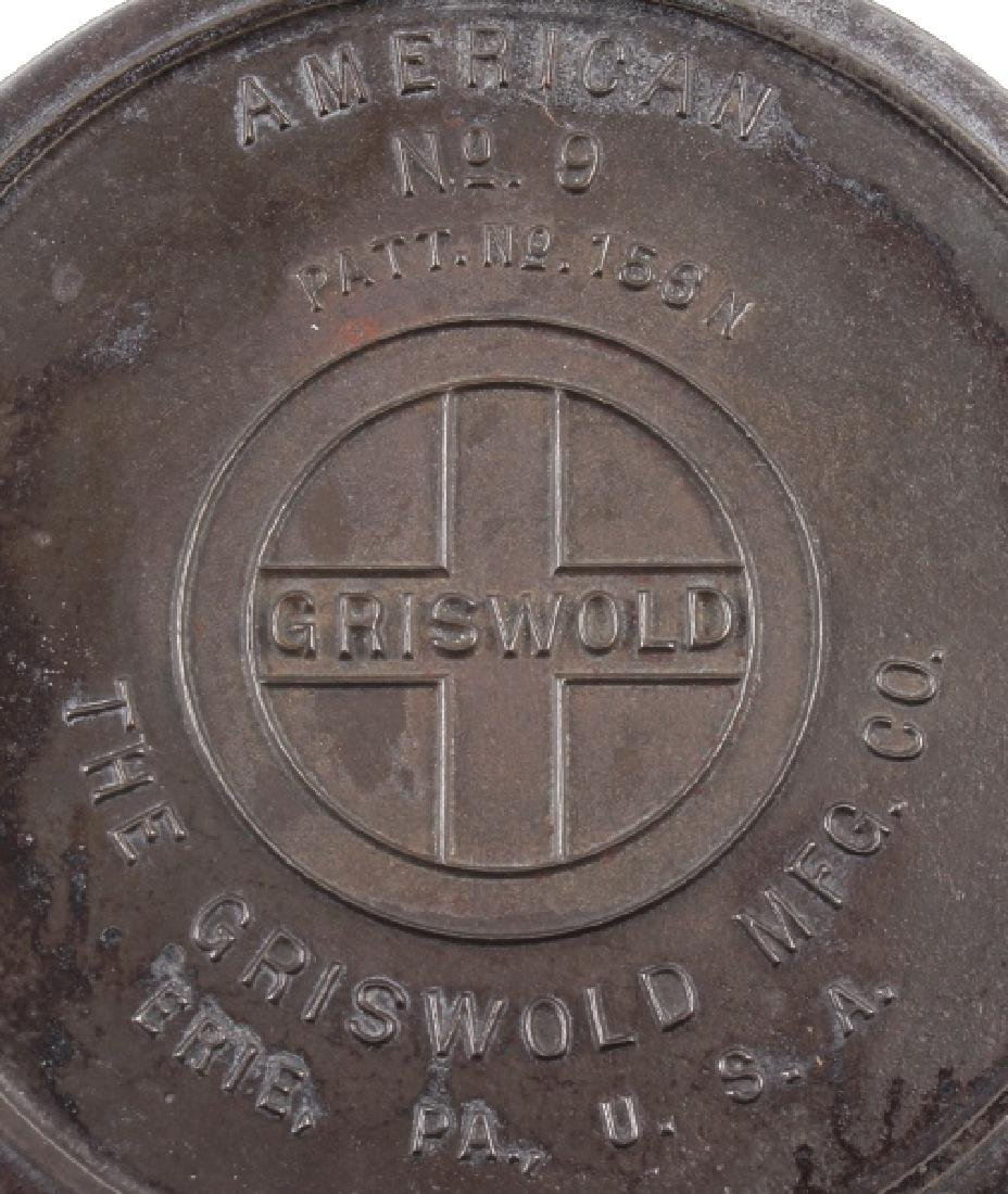 Pair of Griswold Number 9 Waffle Makers with base - 9
