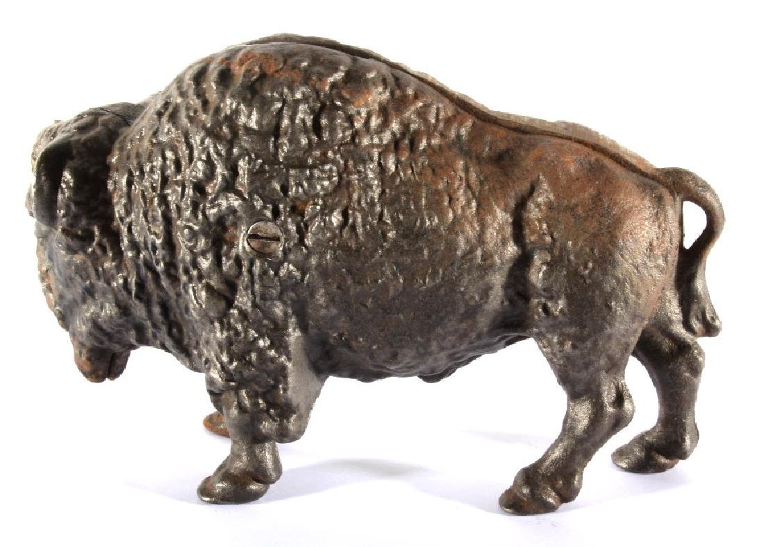 Antique Cast Iron Great American Bison Still Bank - 4