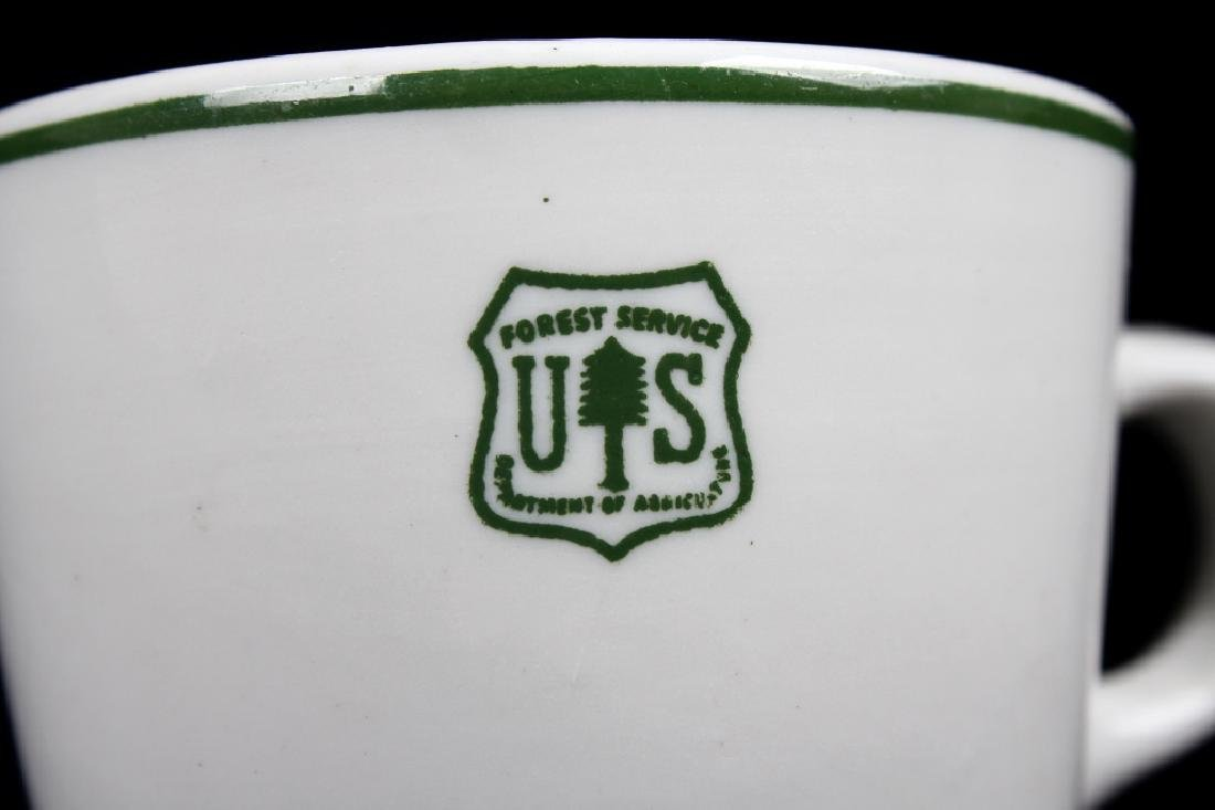 Vintage US Forest Service Coffee Cup and Saucer - 10
