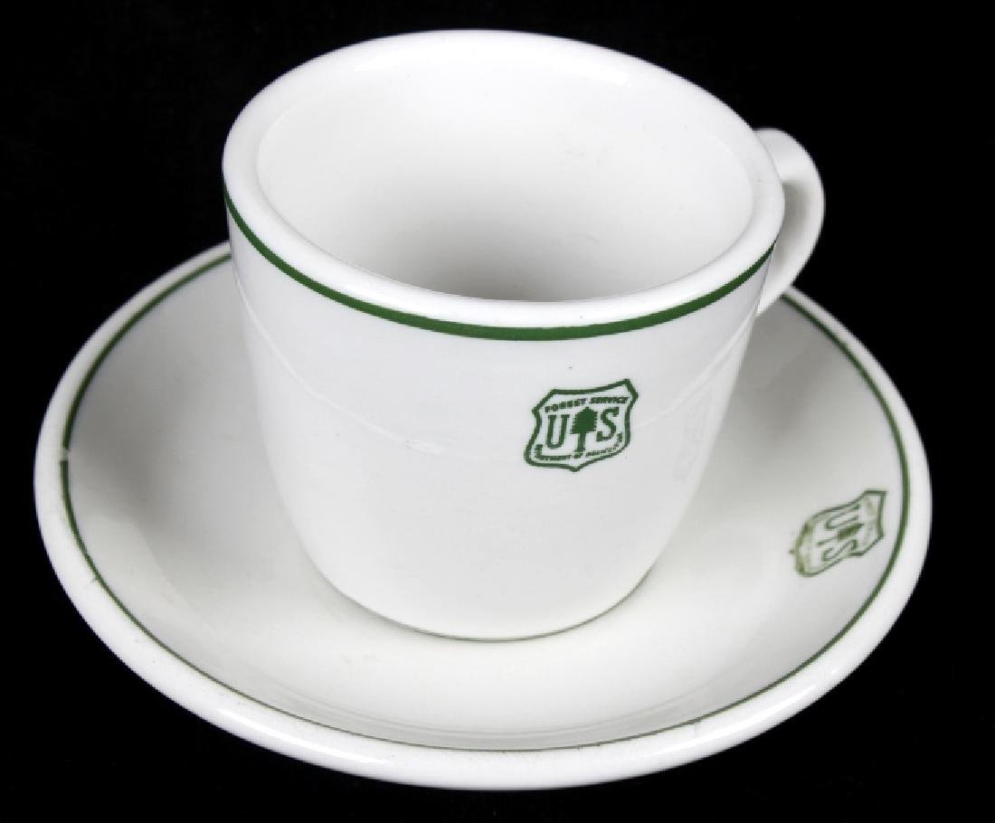 Vintage US Forest Service Coffee Cup and Saucer