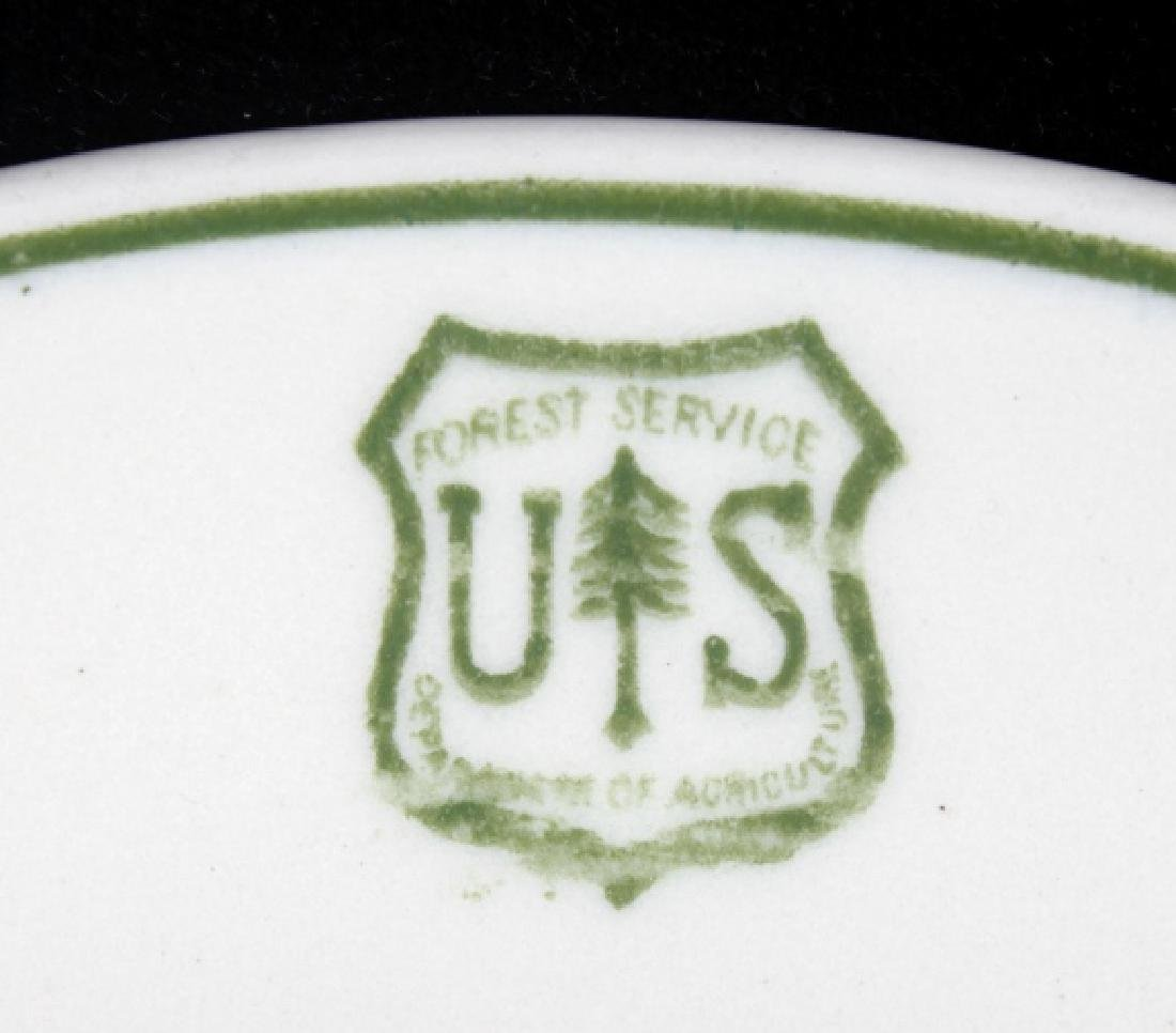 Vintage US Forest Service Coffee Cup and Saucer - 3