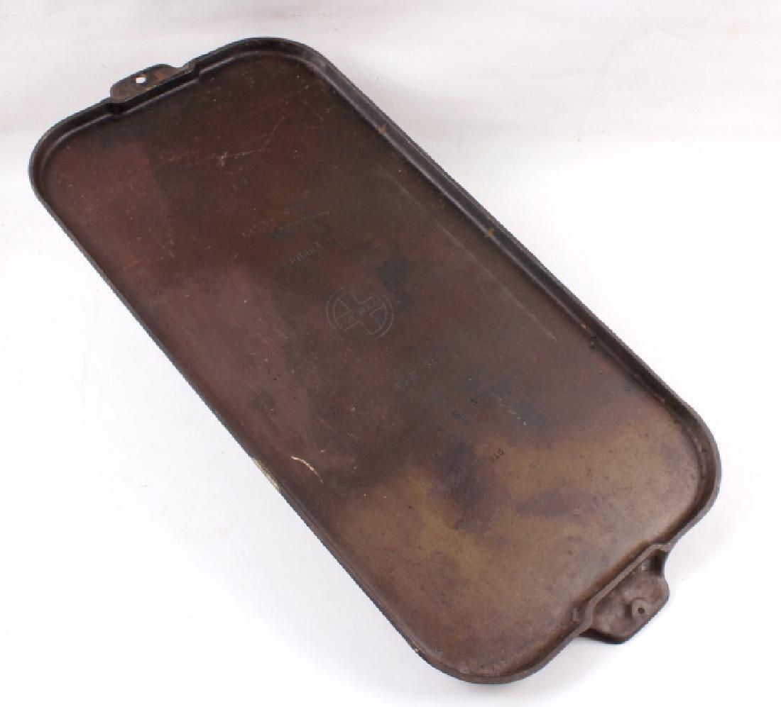 Griswold Number 9 & 10 Antique Cast Iron Griddles - 10