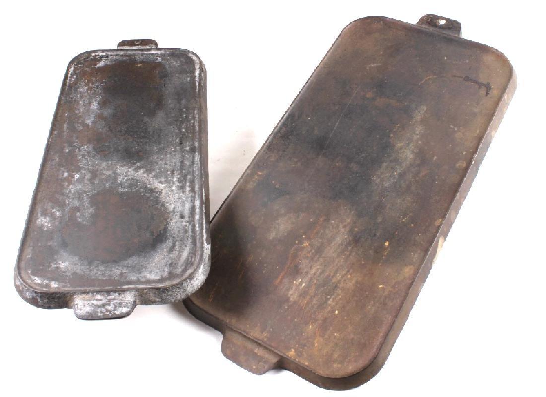 Griswold Number 9 & 10 Antique Cast Iron Griddles