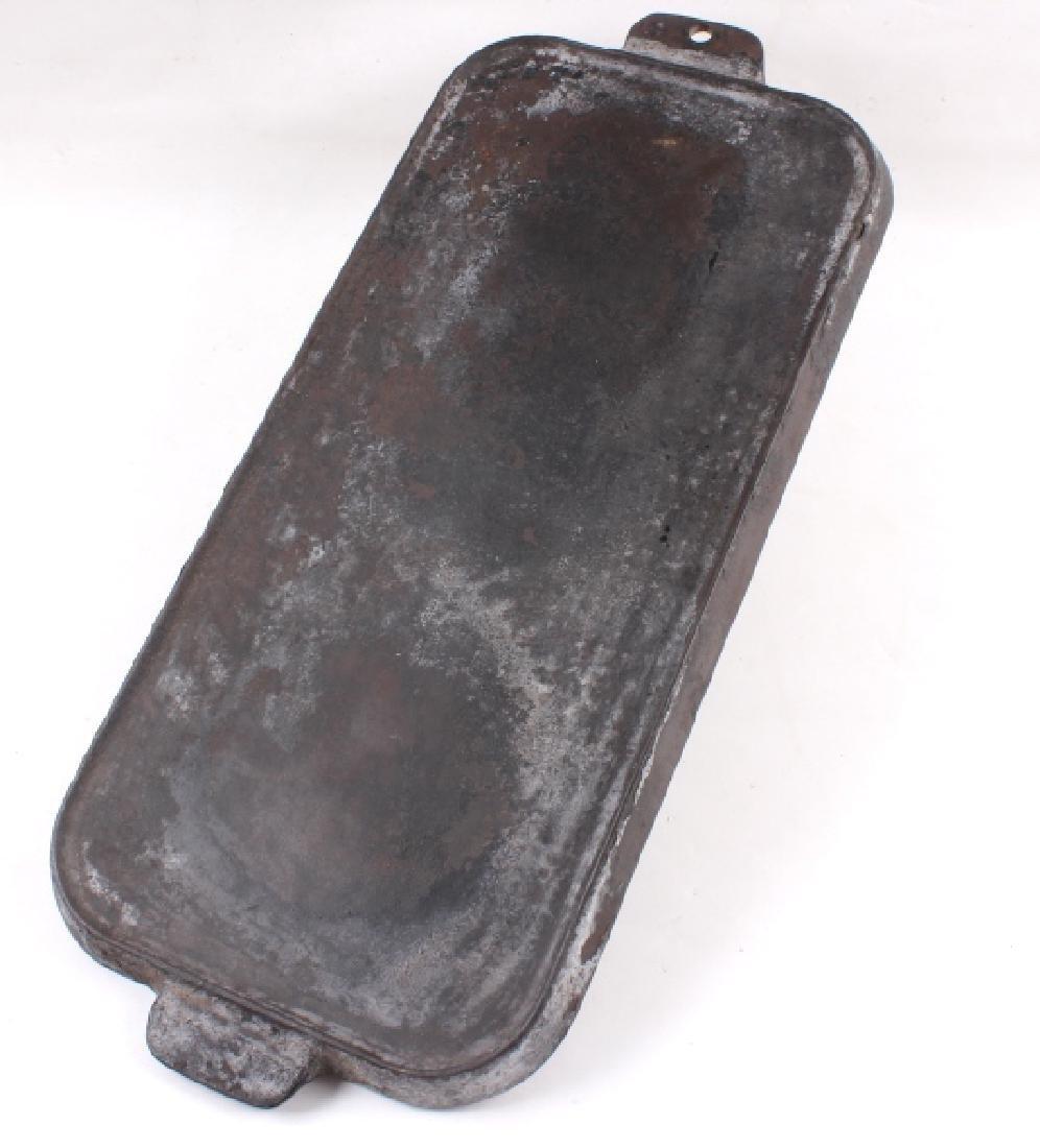 Griswold Number 9 & 10 Antique Cast Iron Griddles - 3