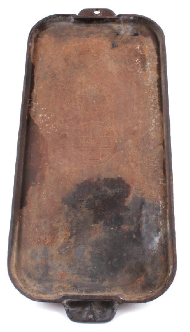 Griswold Number 9 & 10 Antique Cast Iron Griddles - 5