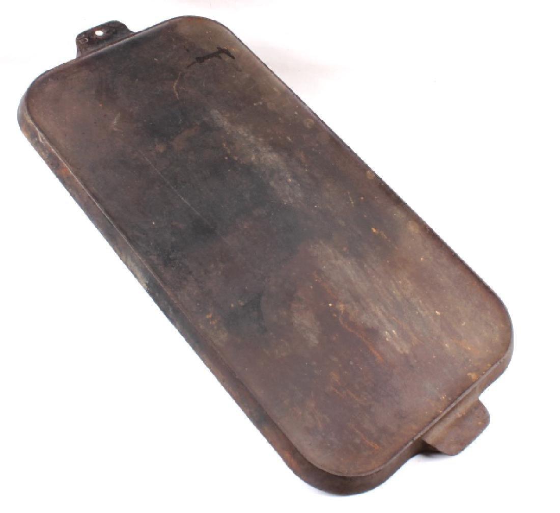 Griswold Number 9 & 10 Antique Cast Iron Griddles - 7