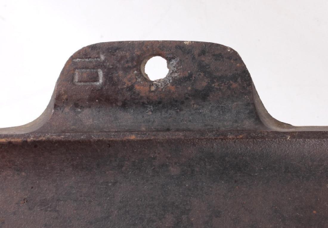 Griswold Number 9 & 10 Antique Cast Iron Griddles - 8