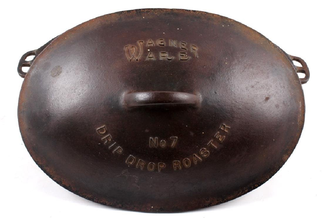 Wagner Ware Cast Iron Large No. 7 Oval Roaster