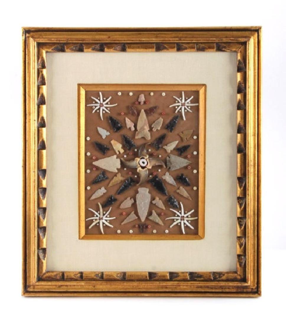 Native American Arrowhead Artifact Collection