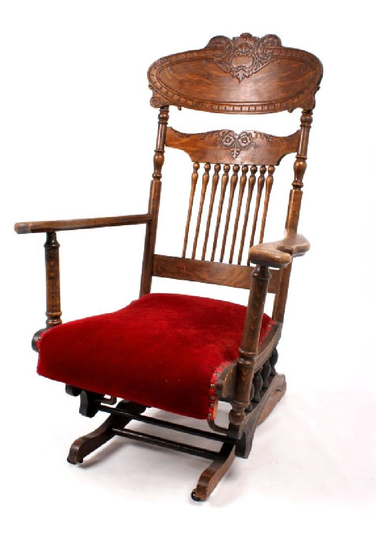 168Voss Inn early 1900's Glider Rocking Chair - 2