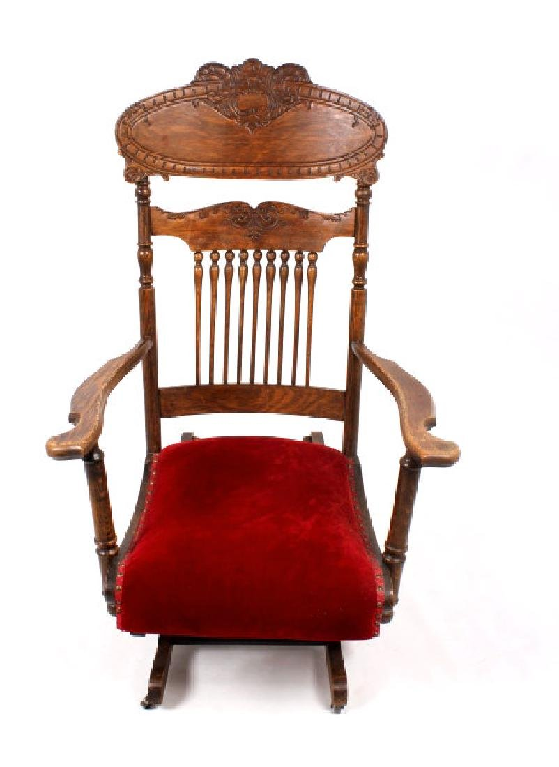 168Voss Inn early 1900's Glider Rocking Chair - 3