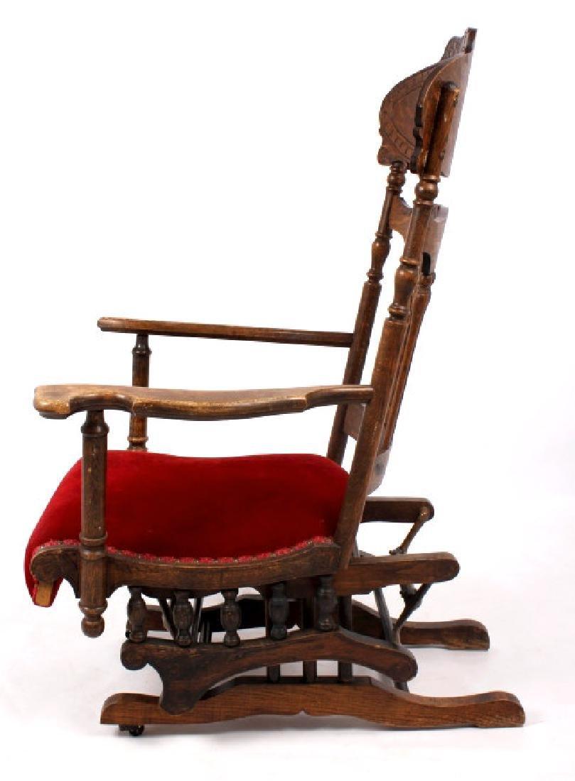 168Voss Inn early 1900's Glider Rocking Chair - 5