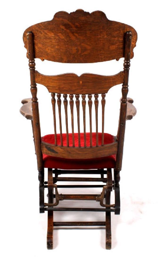 168Voss Inn early 1900's Glider Rocking Chair - 6