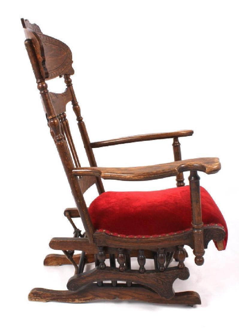 168Voss Inn early 1900's Glider Rocking Chair - 7