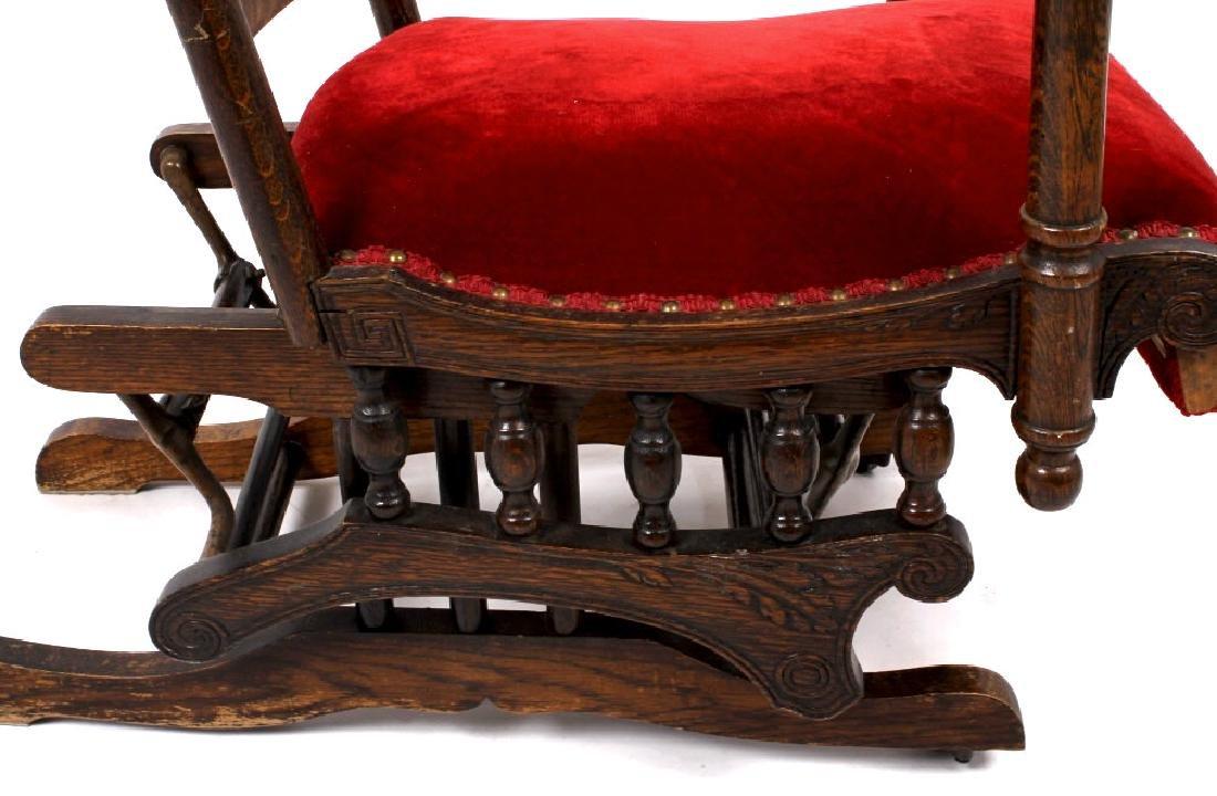 168Voss Inn early 1900's Glider Rocking Chair - 8