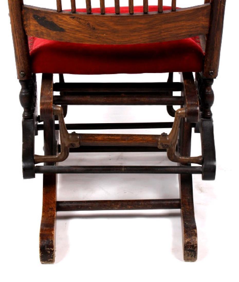 168Voss Inn early 1900's Glider Rocking Chair - 9