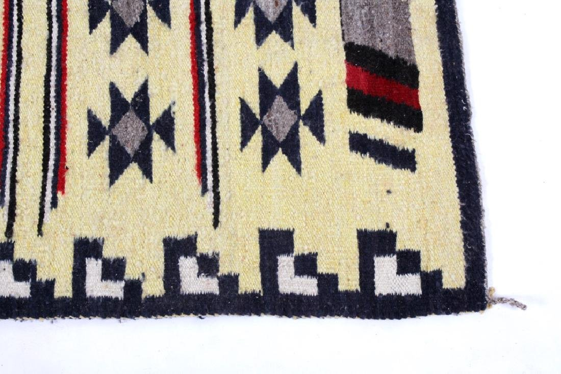 Navajo Ganado Wool Rug - 7