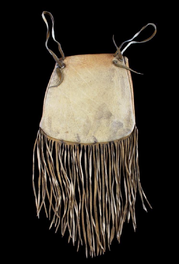 Plains Indian Floral Beaded Buckskin Bag - 6