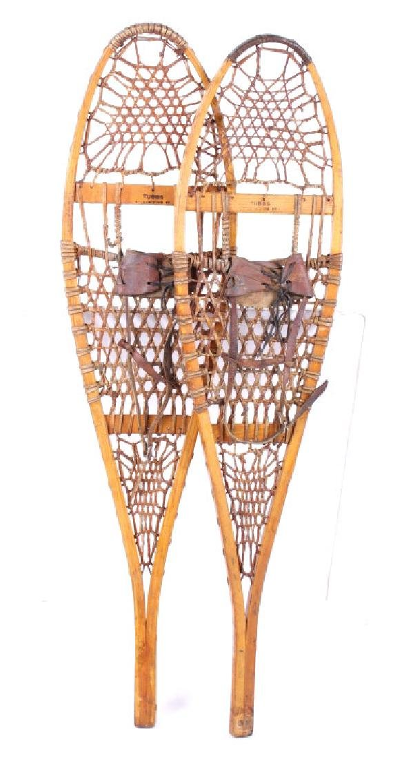 Tubbs Wallingford Vermont Wood & Rawhide Snowshoes