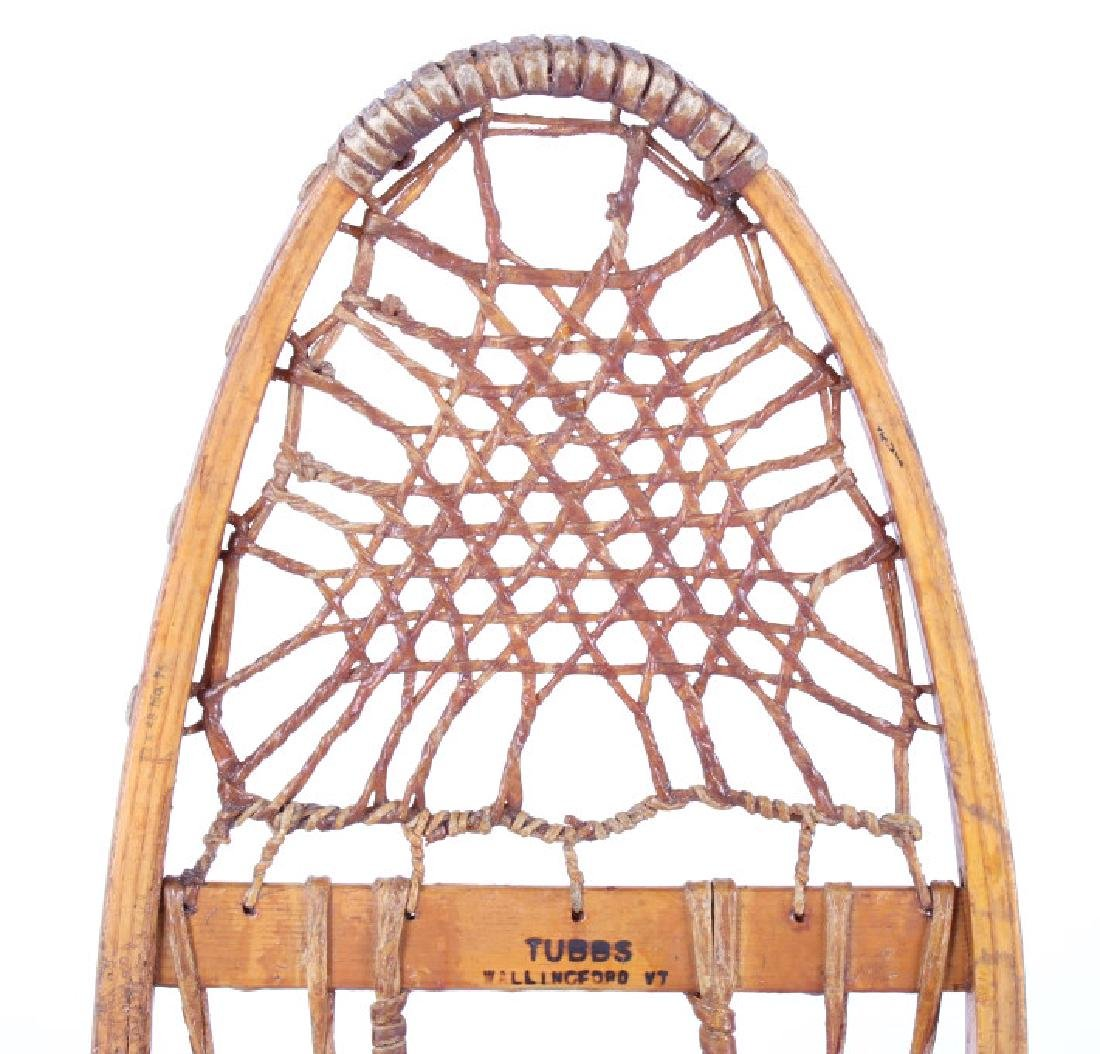 Tubbs Wallingford Vermont Wood & Rawhide Snowshoes - 3