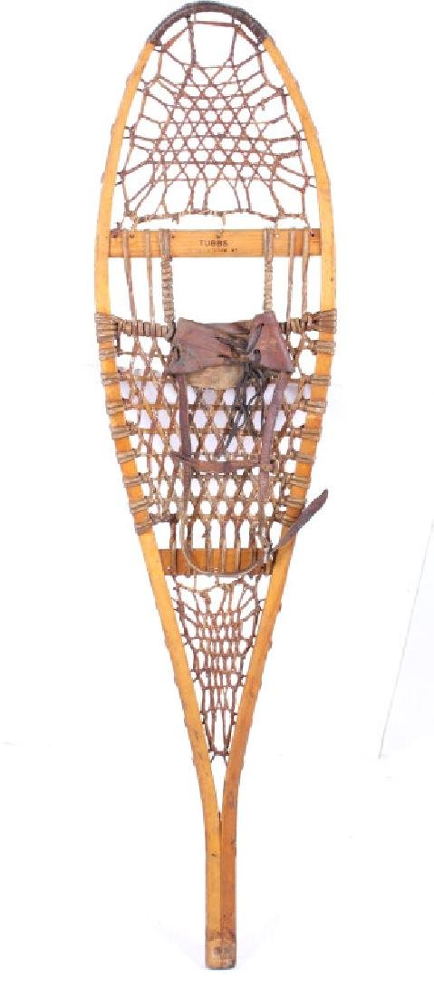 Tubbs Wallingford Vermont Wood & Rawhide Snowshoes - 5