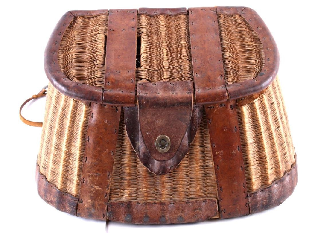 Early 19th Century Vintage Fishing Creel