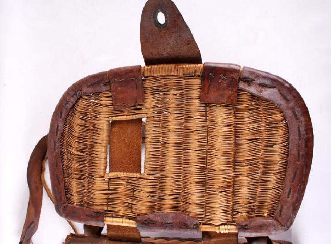 Early 19th Century Vintage Fishing Creel - 5