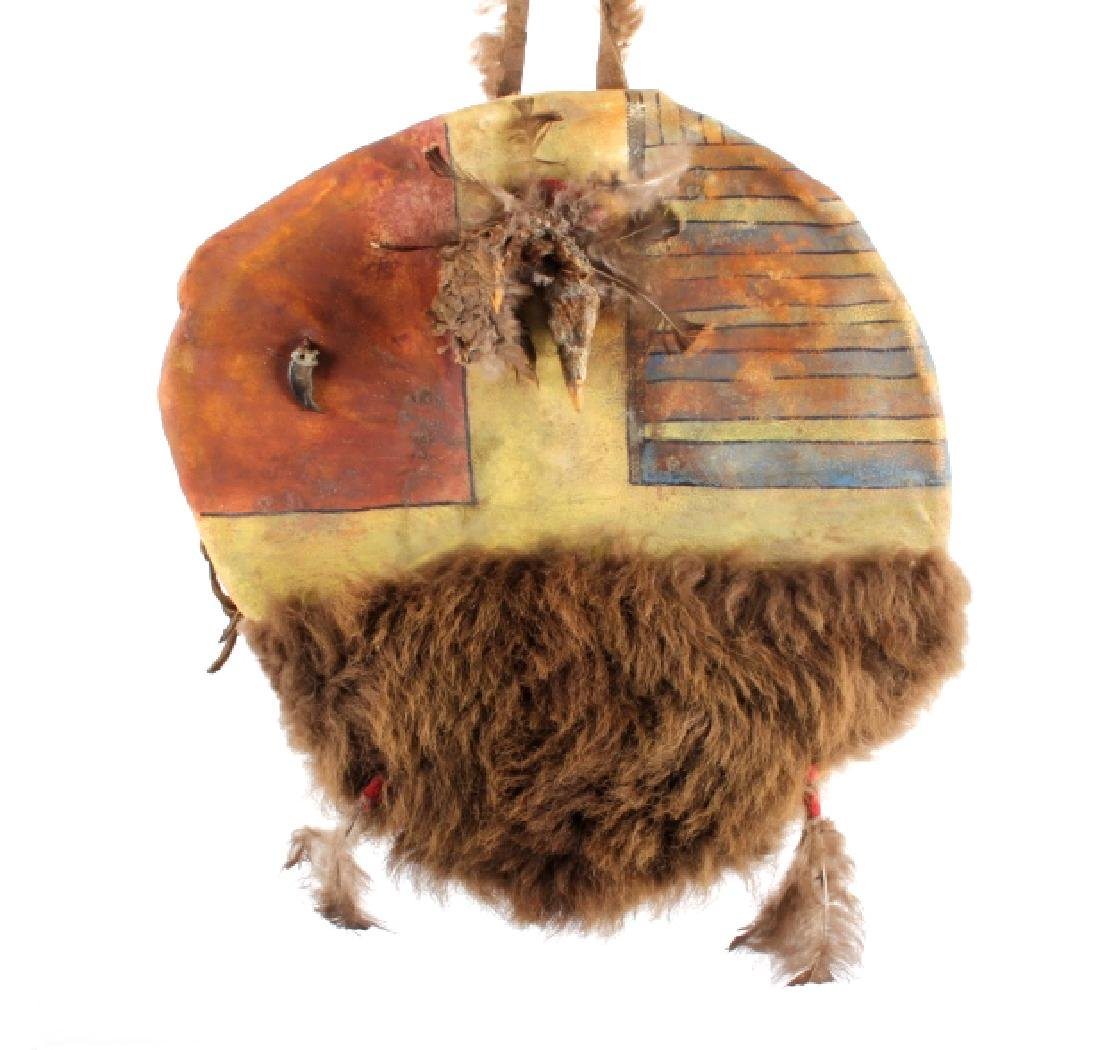 Crow Warrior Polychrome Painted Shield w/ Duck - 2